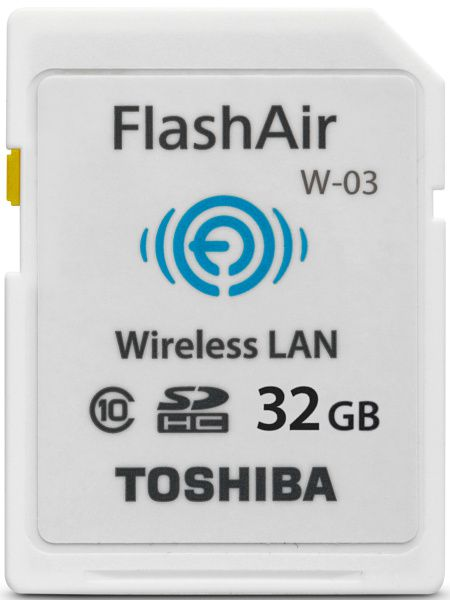 Carte mémoire Toshiba FlashAir W-03 Wi-Fi Wireless LAN 32 Go