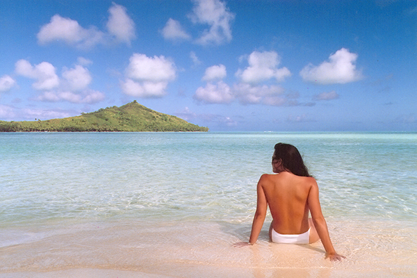 John Knoll, 'Jennifer in Paradise', première photo retouchée avec Display, futur Photoshop I