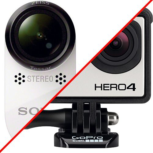 Gopro Hero4 Black VS Sony FDR-X1000 : test review comparatif