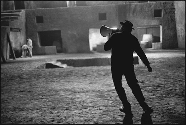 Federico Fellini on the Set of Satyricon, Rome, Italy, 1969 © Mary Ellen Mark