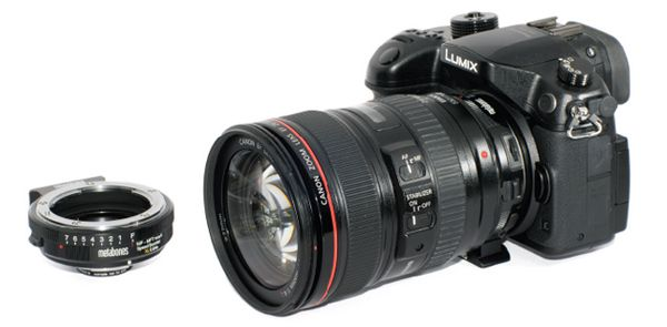 réducteur de focale Metabones Speed booster XL 064x sur Panasonic GH4