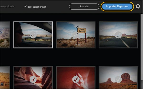 Lightroom 6.2 importation