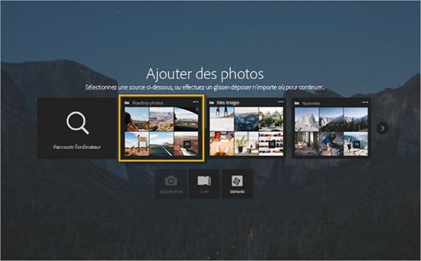 Lightroom 6.2 nouveau menu d'importation