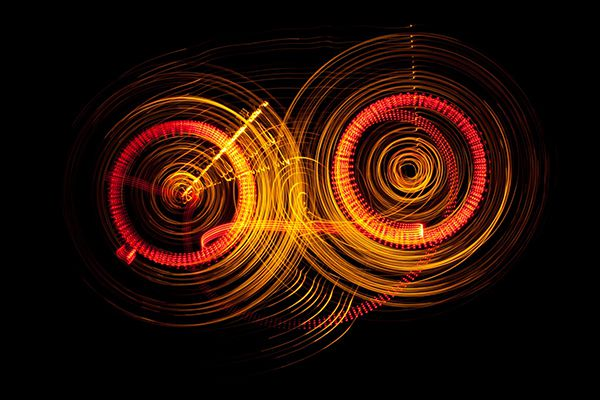 Light painting Siegfried Kürschner
