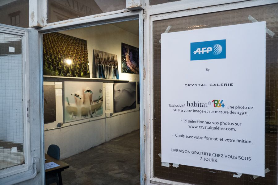 Crystal Galerie, ventes de tirages photo de l'AFP