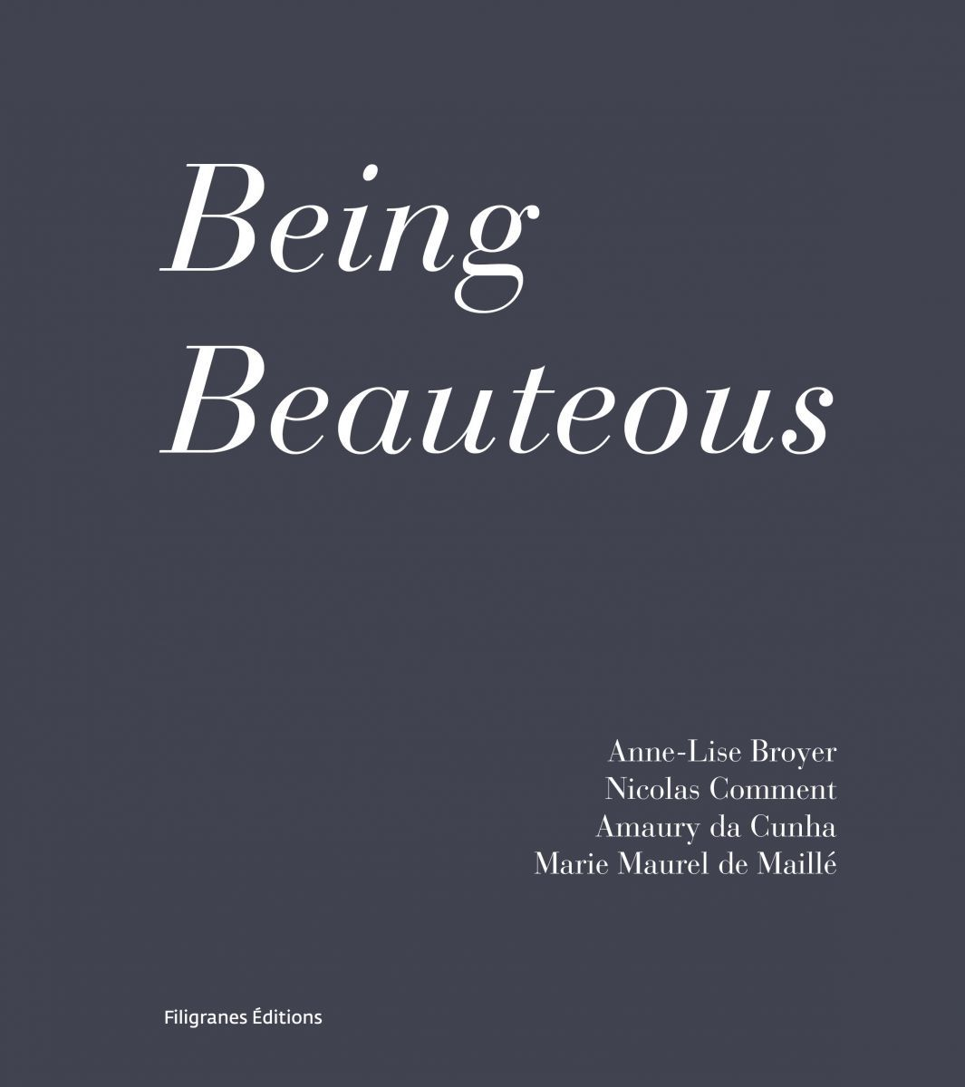 Being Beauteous, couverture