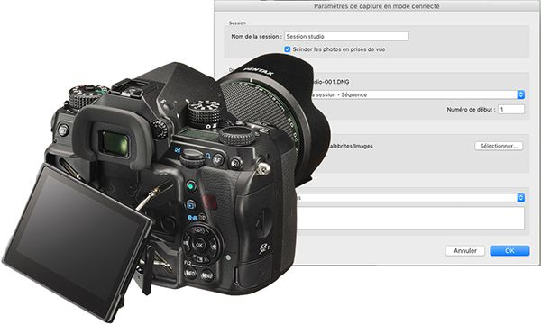 Plugin de capture Lightroom pour Pentax