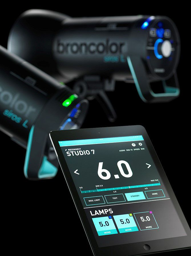 Broncolor Siros 400 L, 800 L et application BronControl