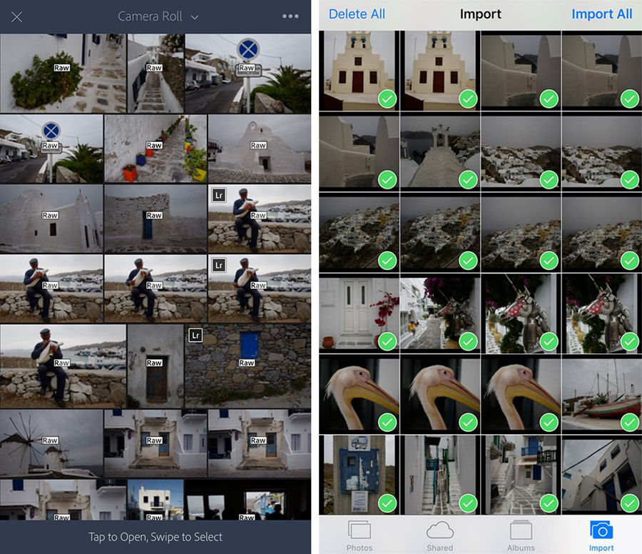 lightroom mobile 2.4 pour iOS