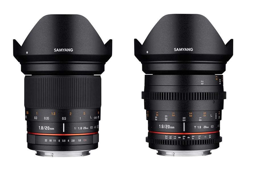 Samyang 20mm F1.8 ED AS UMC et 20mm T1.9 ED AS UMC, focales fixes photo et vidéo