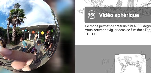 L'application Ricoh Theta+ Video est disponible sous Android