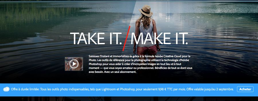 Adobe Creative Cloud Photo promotion