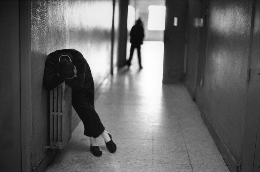 Photo Raymond Depardon, hôpital psychiatrique San Clemente en Italie