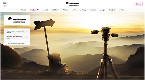Vente privée Manfrotto